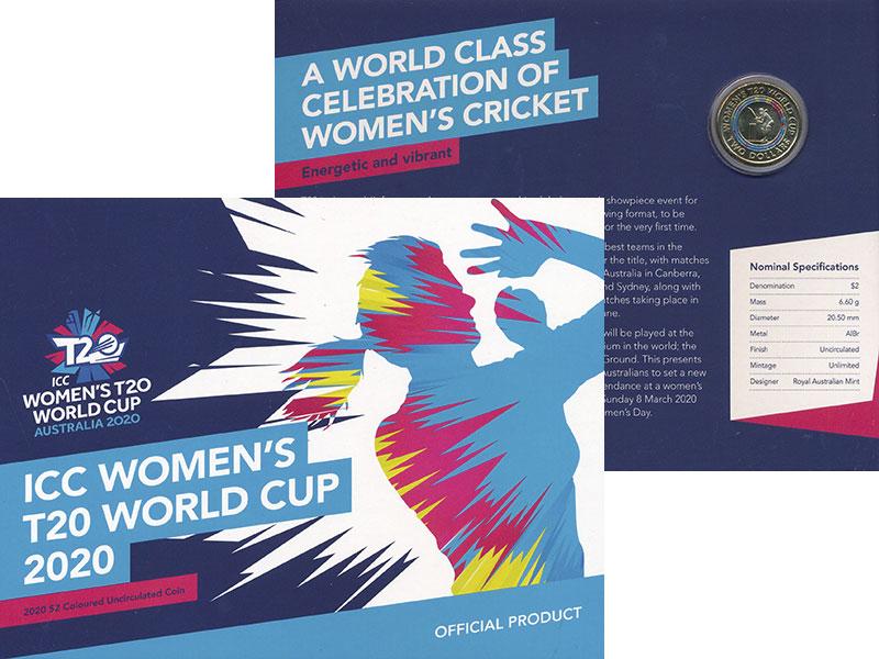 Изображение Подарочные монеты Австралия 2 доллара 2020 Латунь UNC Женский чемпионат ми