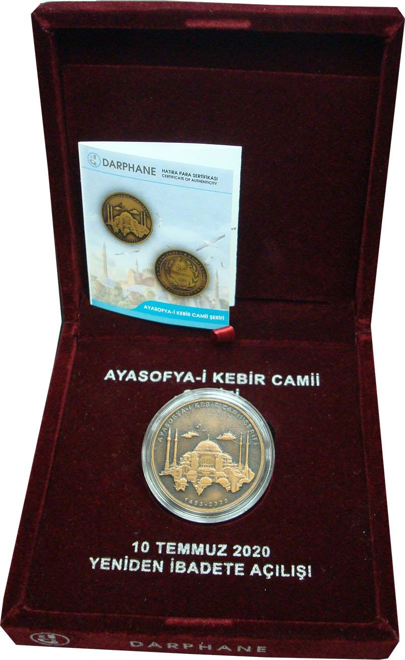 Изображение Подарочные монеты Турция 2 1/2 лиры 2020 Бронза UNC Монета Турции 2,5 ли