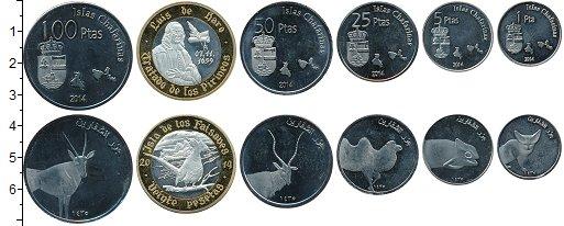 Изображение Наборы монет Испания Набор 2014 года 2014 Медно-никель UNC В наборе 6 монет ном