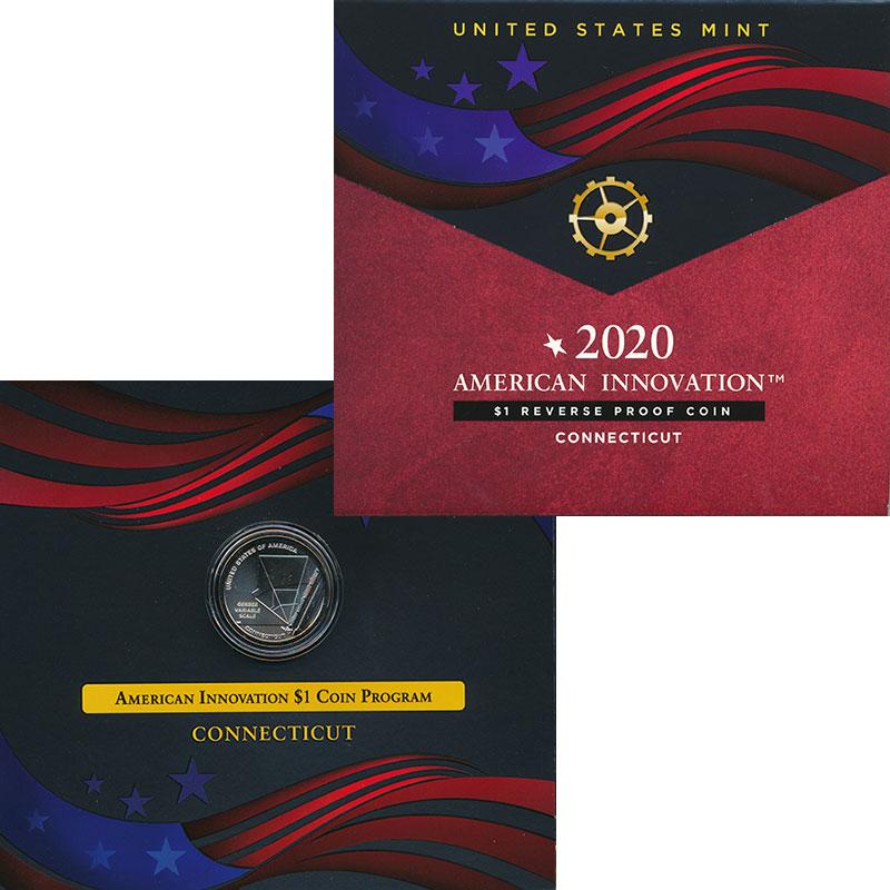Изображение Подарочные монеты США 1 доллар 2020 Латунь Proof Американские инновац