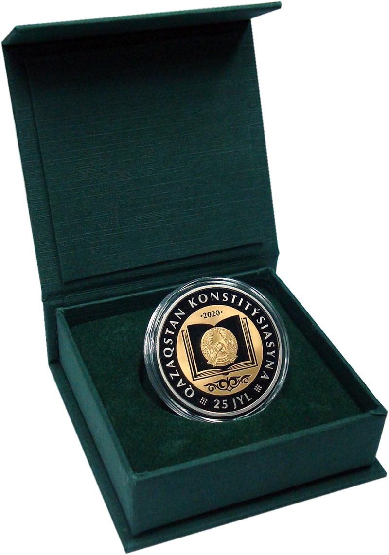 Изображение Подарочные монеты Казахстан 200 тенге 2020 Медно-никель Prooflike 25 лет Конституции К