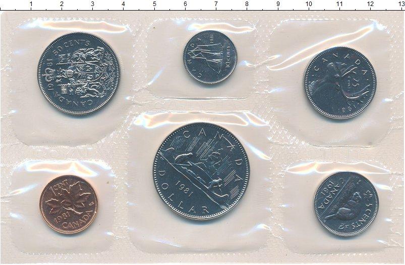 Изображение Подарочные монеты Канада Набор 1981 года 1981  UNC Набор из шести монет