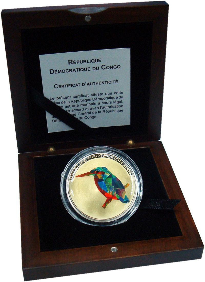 Изображение Подарочные монеты Конго 10 франков 2004 Серебро Proof Охрана дикой природы