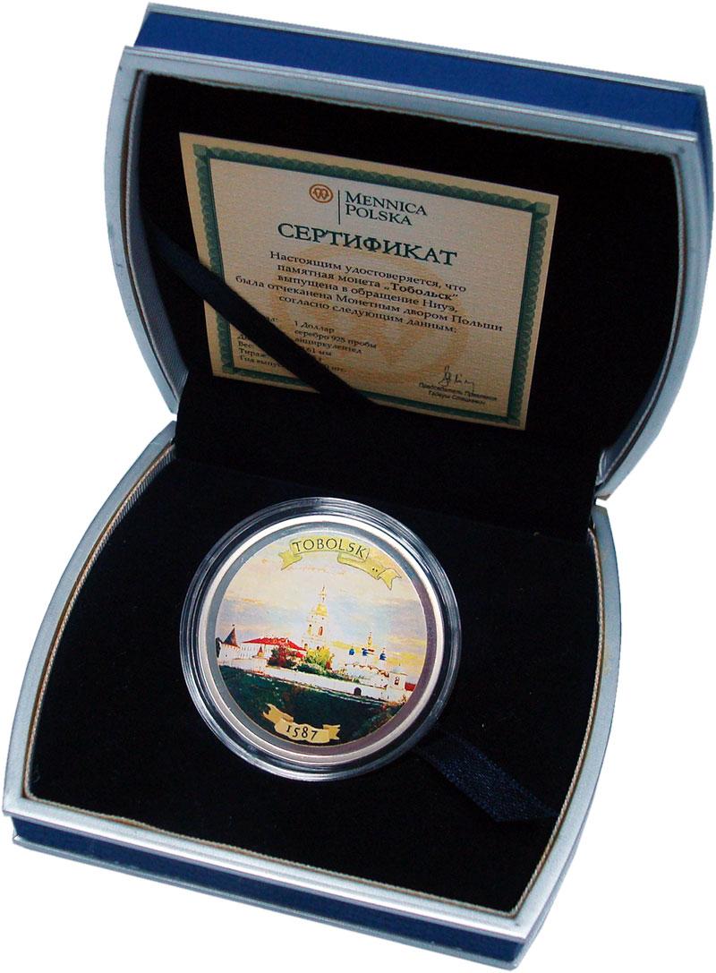 Изображение Подарочные монеты Ниуэ 1 доллар 2007 Серебро Proof Тобольск. Серебро 92