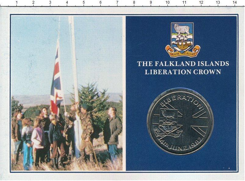 Изображение Подарочные монеты Фолклендские острова 50 пенсов 1982 Медно-никель UNC Оригинальная упаковк