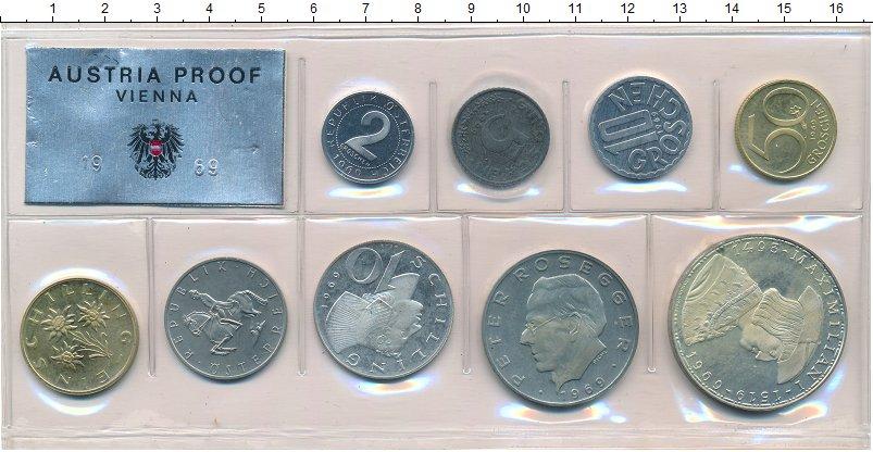 Изображение Подарочные монеты Австрия Набор 1969 года 1969  Proof В набор входят семь