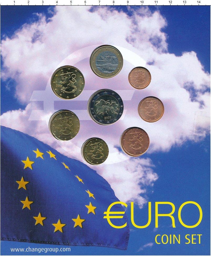 Изображение Подарочные монеты Финляндия Евросет 0  UNC- В набор входят семь