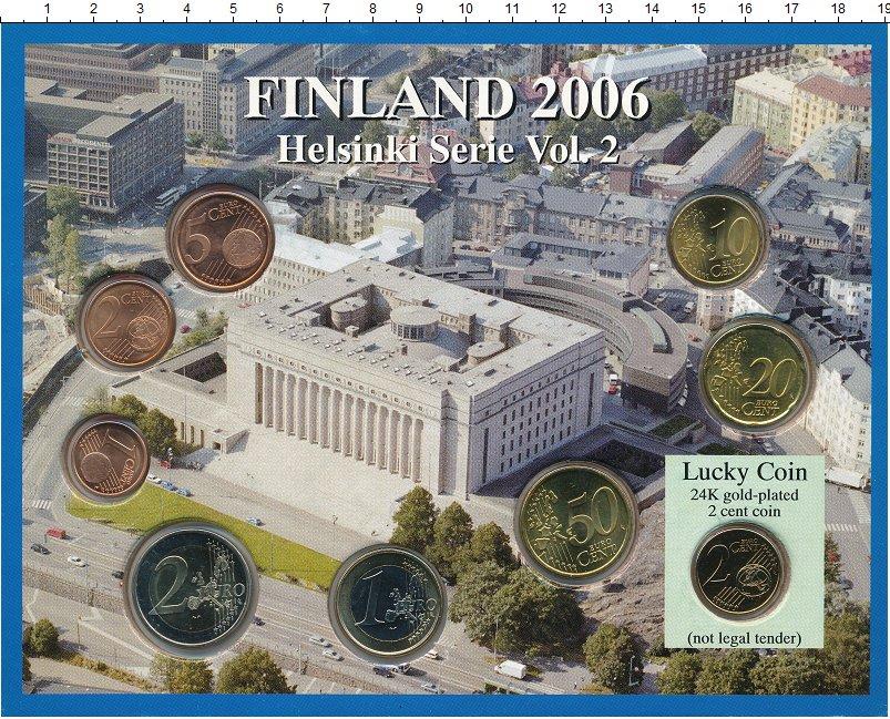 Изображение Подарочные монеты Финляндия Евронабор 2006 года 2006  UNC `В набор входят семь
