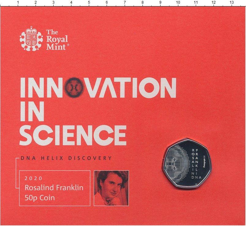 Изображение Подарочные монеты Великобритания 50 пенсов 2020 Медно-никель BUNC Серия Инновации в на