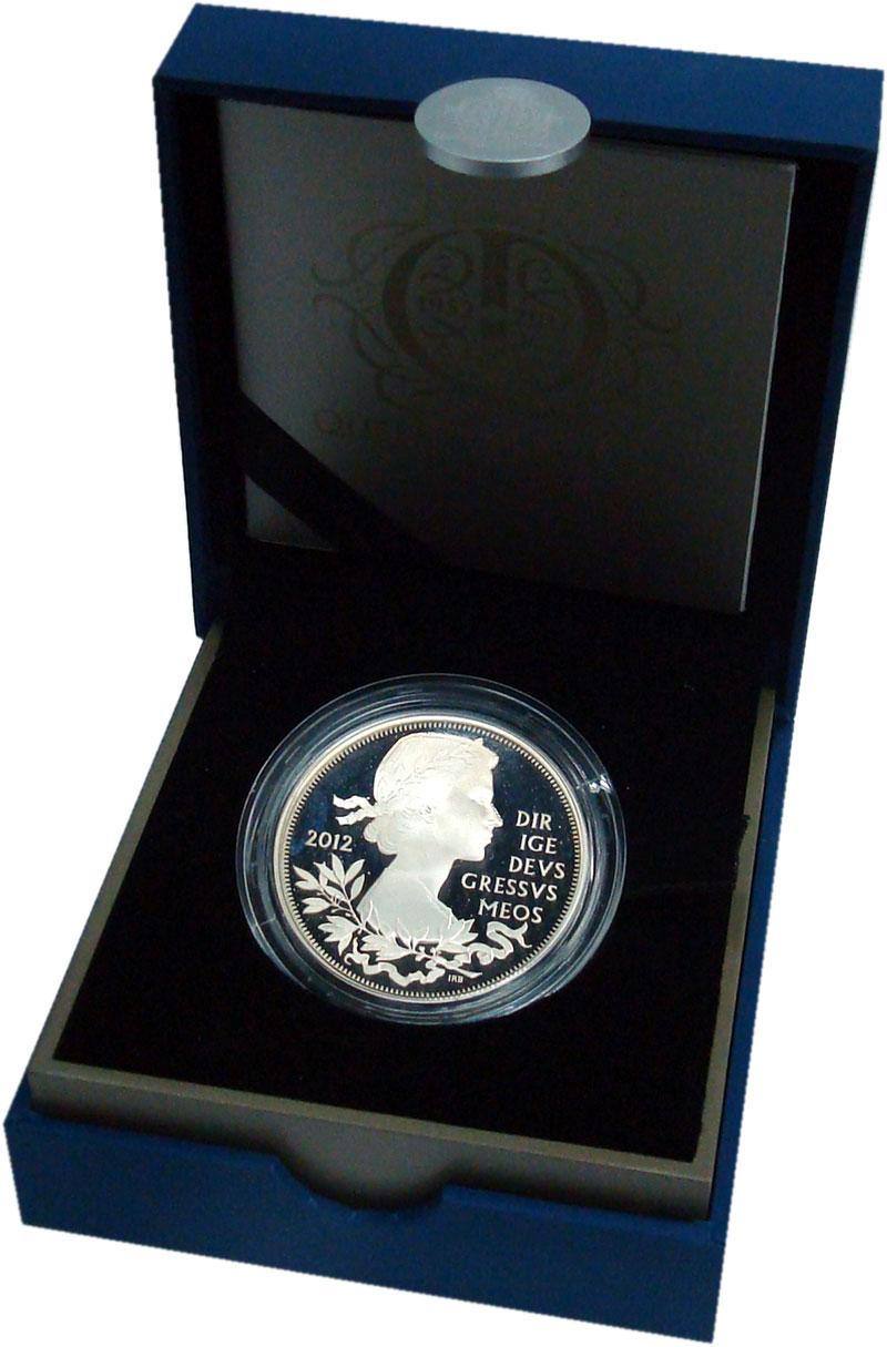 Изображение Подарочные монеты Великобритания 5 фунтов 2012 Серебро Proof 60 лет Правление Ели