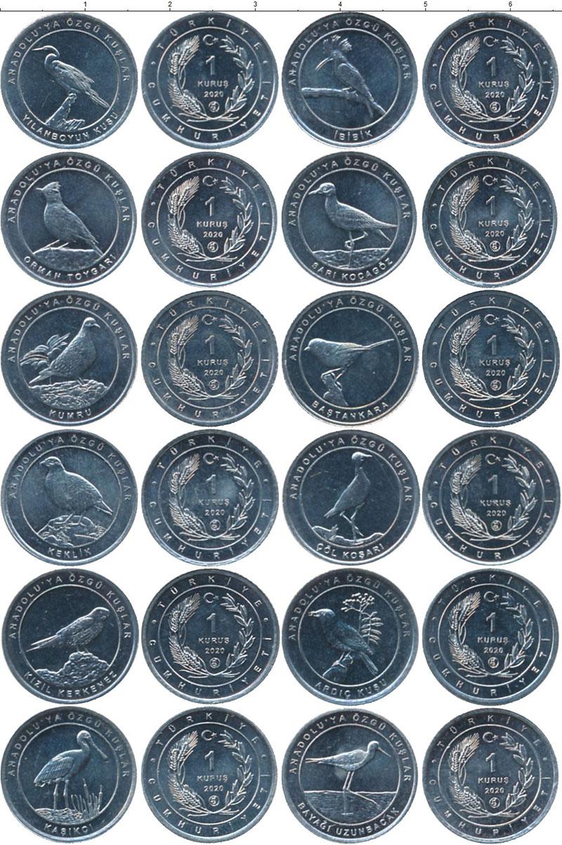 Набор монет Турция 1 куруш Алюминий 2020 UNC фото 2