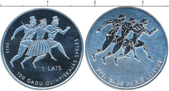 Набор монет Латвия 1 лат Серебро 2012 UNC фото 2