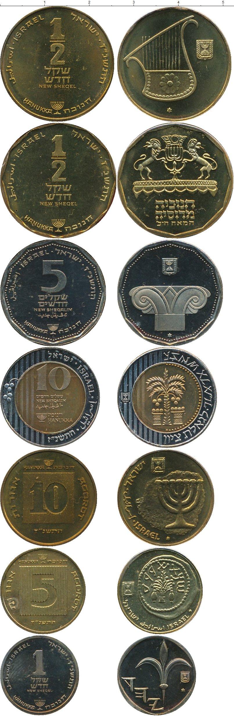 Набор монет Израиль Русское еврейство 1996 UNC фото 2