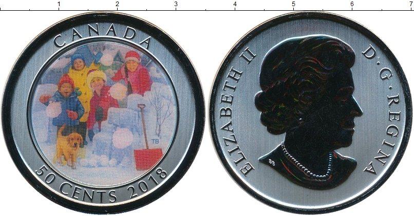 Набор монет Канада 50 центов Никель 2018 UNC фото 2