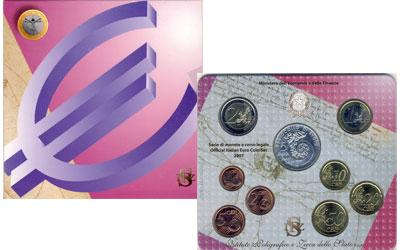 Изображение Подарочные наборы Италия Евронабор 2007 года 2007  UNC