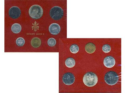 Изображение Подарочные монеты Ватикан Набор монет 1964 года 1964  UNC