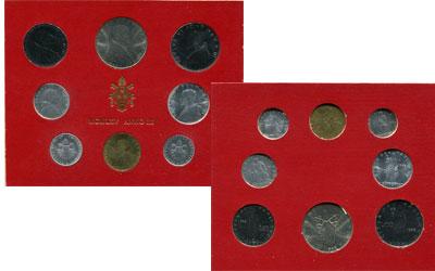 Изображение Подарочные монеты Ватикан Набор монет 1965 года 1965  UNC Набор монет 3-го год