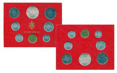 Изображение Подарочные монеты Ватикан Набор монет 1975 года 1975  UNC- Набор монет 13-го го