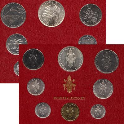 Изображение Подарочные наборы Ватикан Набор монет 1976 года 1976