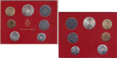 Изображение Подарочные монеты Ватикан Набор монет 1978 года 1978  UNC Набор монет 16-го го
