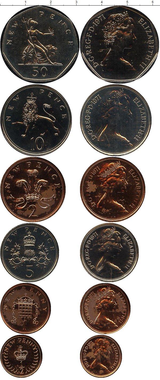 Картинка Подарочные монеты Великобритания Набор монет 1971 года  1971