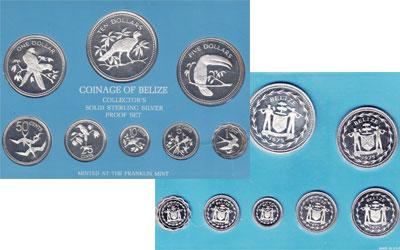 Изображение Подарочные монеты Белиз Набор proof-монет 1975 года 1975  Proof <div>Мятая упаковка.