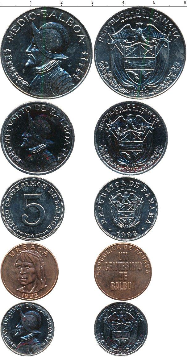 Набор монет Панама Набор монет 1993 г. 1993 UNC фото 2