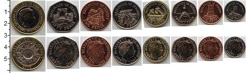 Изображение Наборы монет Остров Джерси Остров Джерси 1998-2008 1998   В наборе 8 монет ном
