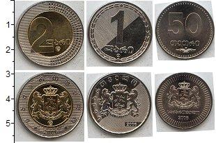 Изображение Наборы монет Грузия Грузия 2006 2006  UNC В наборе 3 монеты но