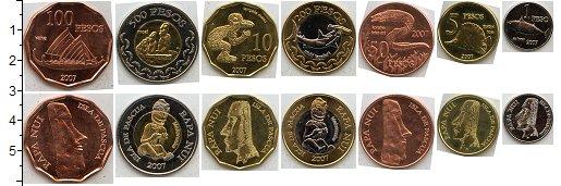 Изображение Наборы монет Остров Пасхи Остров Пасхи 2007 0  XF