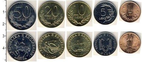 Изображение Наборы монет Албания Албания 1995-1996 0  AUNC В наборе 5 монет ном