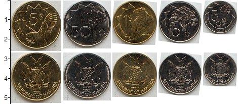 Изображение Наборы монет Намибия Намибия 1993-2010 0  AUNC В наборе 5 монет ном