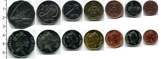 Изображение Наборы монет Фиджи Фиджи 1999-2009 0  AUNC В наборе 7 монет ном