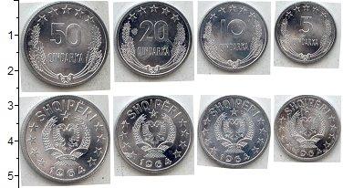 Изображение Наборы монет Албания Албания 1964 1964 Алюминий UNC В наборе 4 монеты: 5