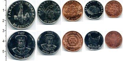 Изображение Наборы монет Тонга Тонга 2002-2005 0  AUNC В наборе 5 монет ном