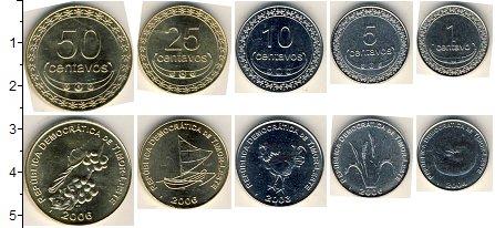 Изображение Наборы монет Тимор Тимор 2003-2006 0  AUNC