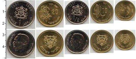 Изображение Наборы монет Марокко Марокко 1987 1987  UNC В наборе 5 монет ном