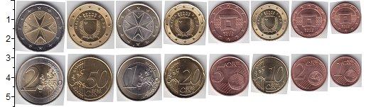 Изображение Наборы монет Мальта Мальта 2008-2016 2008  UNC В наборе 8 монет ном