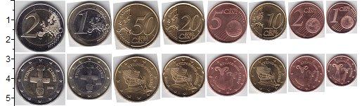 Изображение Наборы монет Кипр Кипр 2008-2013 2008  XF+ В наборе 8 монет ном