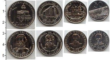 Изображение Наборы монет Парагвай Парагвай 2007-2011 2007  UNC- В наборе 4 монеты но