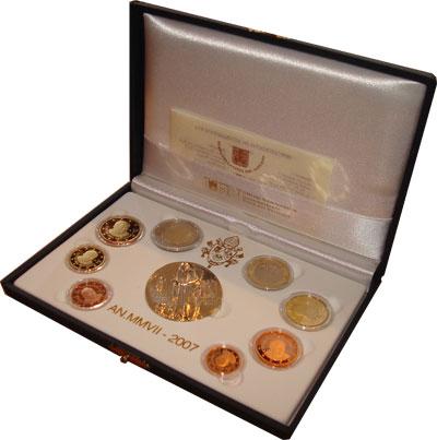 Изображение Подарочные монеты Ватикан Подарочный набор евро 2007 2007
