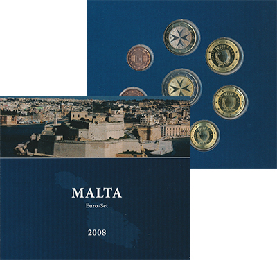 Изображение Подарочные наборы Мальта Подарочный набор евро 2008 2008   Подарочный набор вкл