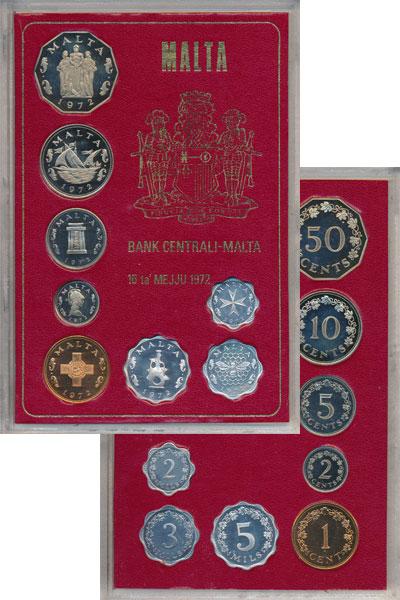 Изображение Подарочные монеты Мальта Мальта 1972 1972  Proof