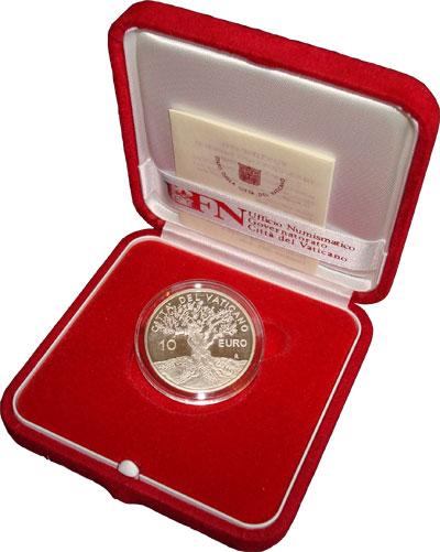 Изображение Подарочные монеты Ватикан Международный день мира 2004 Серебро Proof Набор посвящен Между