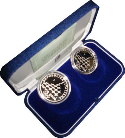 Изображение Подарочные монеты Италия Олимпийские игры в Турине 2006 2005 Серебро Proof Набор посвящен зимни