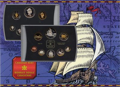 Изображение Подарочные наборы Канада Монеты 1999 (королевский набор) 1999  Proof Набор включает 8 мон