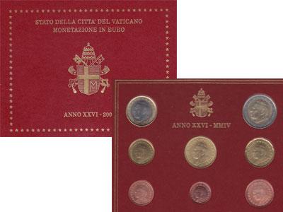 Изображение Подарочные монеты Ватикан Монеты 2004 2004  UNC Набор посвящен понти