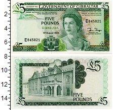 Изображение Боны Гибралтар 5 фунтов 1988  UNC Портрет королевы Ели