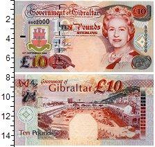 Банкнота Гибралтар 10 фунтов 2006 Портрет королевы Елизаветы II UNC