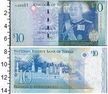 Изображение Банкноты Тонга 10 панга 2008  UNC Портрет короля Георг